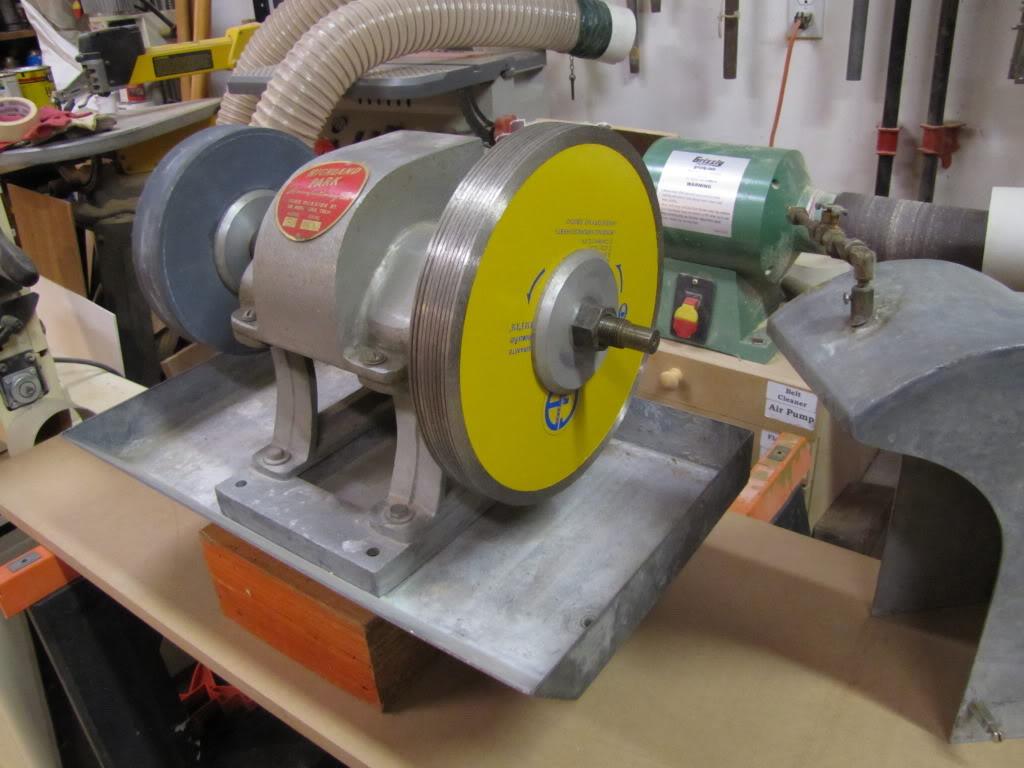 Super grinder now grinds pics rock tumbling hobby for Diy rock tumbler motor